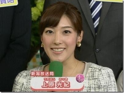 NHK上原光紀アナのカップや年齢、生年月日は?身長プロフまとめ