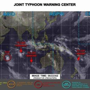 【2017年台風3号米軍最新】九州~関東地方へ接近の予想 #3_4